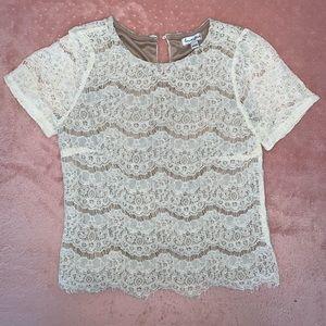 Beige Romantic T-shirt XS